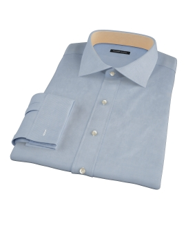 Sky Blue Wrinkle Resistant Cavalry Twill Fitted Dress Shirt