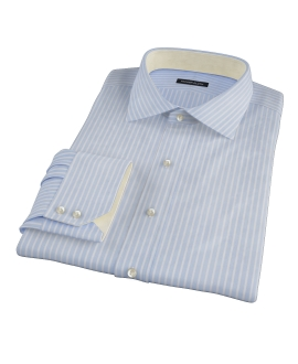 Light Blue Reverse Bengal Stripe Custom Dress Shirt