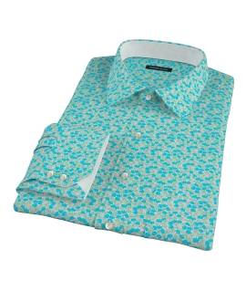 Boboli Flower Print Dress Shirt