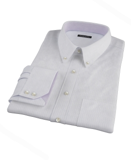 Aqua and Lavender Satin Stripe Men's Dress Shirt