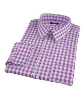 Lavender Large Gingham Fitted Shirt