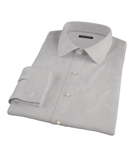 Clove Brown End-on-End Stripe Tailor Made Shirt