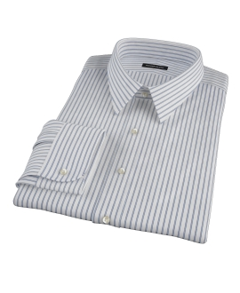 Rye Black Border Stripe Men's Dress Shirt