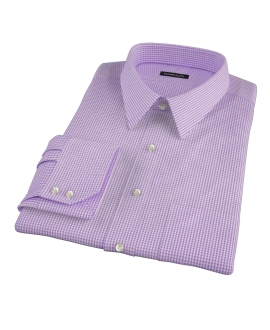 Canclini Lavender Mini Gingham Custom Made Shirt