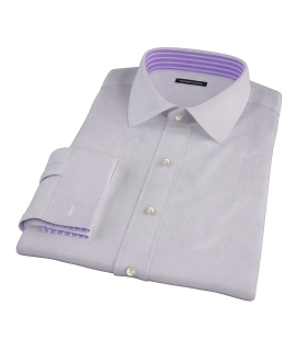 Lavender Wrinkle Resistant Cavalry Twill Dress Shirt