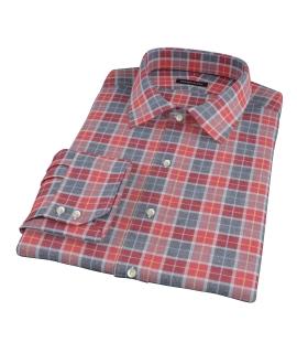 Rust Dock Street Flannel Tailor Made Shirt