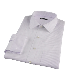 Lavender Dobby Stripe Dress Shirt