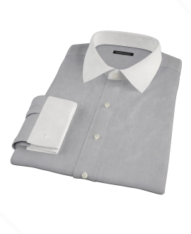 Jones Charcoal Grey End-on-End Custom Made Shirt