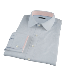 Canclini Light Blue 120s Broadcloth Fitted Shirt