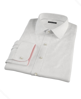 Classic White Pinpoint Fitted Dress Shirt