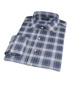 Blue Green Tartan Dress Shirt