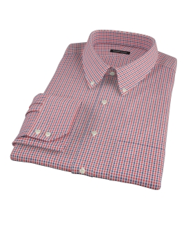 Canclini Red and Navy Mini Gingham Custom Made Shirt
