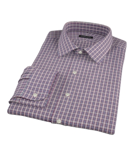 Violet Plaid Oxford Cloth Custom Dress Shirt