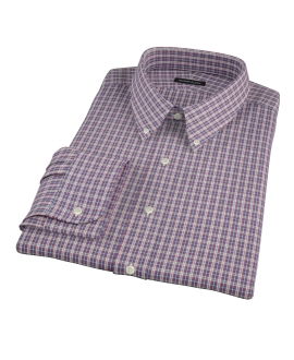Violet Plaid Oxford Cloth Custom Made Shirt