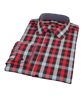 Crosby Red Plaid Dress Shirt