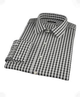 Black Classic Gingham Dress Shirt