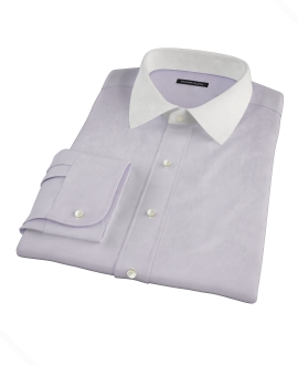 Canclini Lavender End on End Custom Dress Shirt