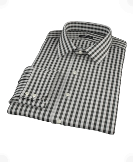 Black Classic Gingham Tailor Made Shirt