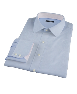 Light Blue Wrinkle Resistant 100s Broadcloth Men's Dress Shirt