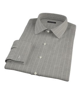 Japanese Black Glen Plaid Fitted Shirt
