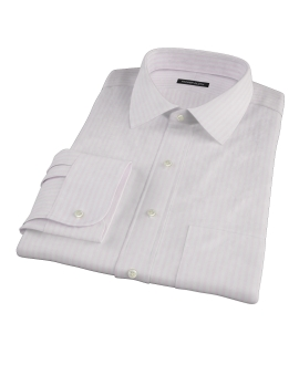 Pink University Stripe Heavy Oxford Dress Shirt