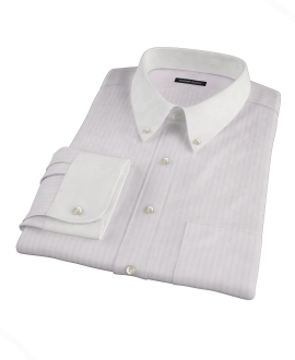 Pink University Stripe Heavy Oxford Custom Dress Shirt
