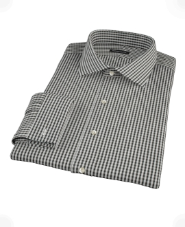 Small Black Gingham Fitted Shirt