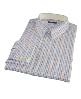 Williams Yellow Purple Multicheck Fitted Shirt