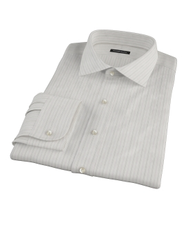 Lavender Gray Dobby Stripe Men's Dress Shirt