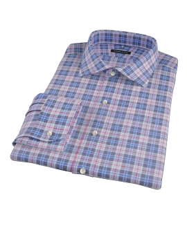 Red and Blue Plaid Custom Made Shirt
