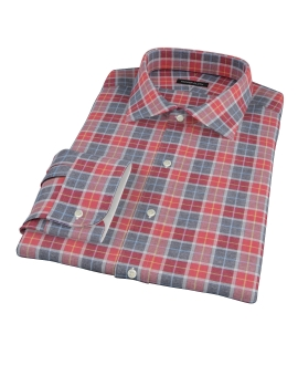 Rust Dock Street Flannel Fitted Dress Shirt