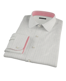 Light Blue Satin Stripe Tailor Made Shirt