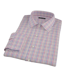Williams Red Navy Multicheck Men's Dress Shirt
