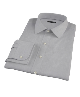 Jones Charcoal Grey End-on-End Custom Dress Shirt