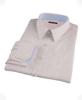 Pink Wrinkle Resistant Cavalry Twill Custom Dress Shirt