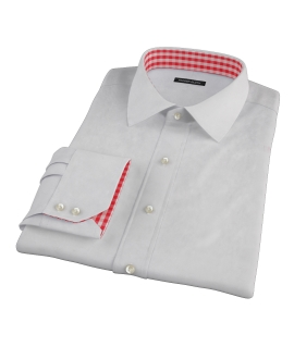 Bowery Light Gray Pinpoint Dress Shirt