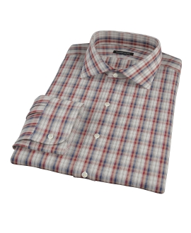 Maroon and Blue Plaid Custom Dress Shirt