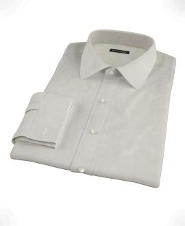Ivory Easy Care Broadcloth Custom Made Shirt