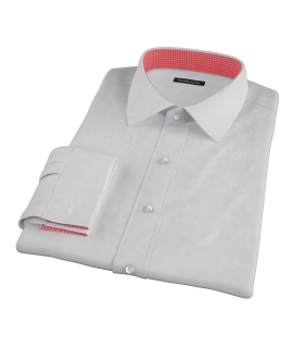 Bowery Light Gray Pinpoint Fitted Dress Shirt