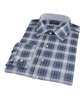 Blue Green Tartan Custom Dress Shirt