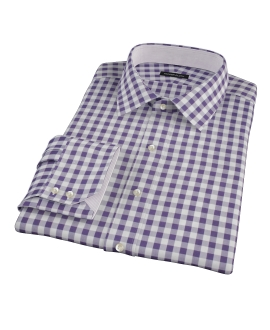 Eggplant Large Gingham Dress Shirt