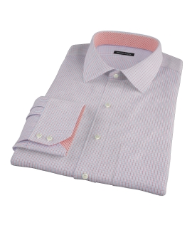 Blue Red Peached Tattersall Tailor Made Shirt