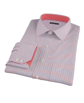 Red Davis Check Men's Dress Shirt