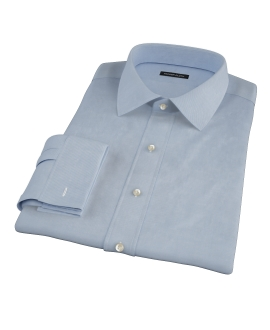 Blue Herringbone Tailor Made Shirt