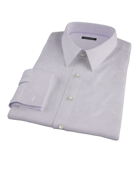 Lavender Wrinkle Resistant Cavalry Twill Custom Dress Shirt