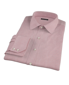 100s Red University Stripe Custom Dress Shirt