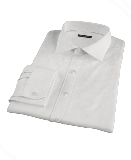 Thomas Mason White Pinpoint Tailor Made Shirt