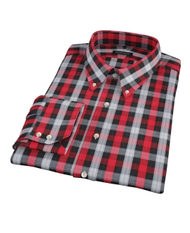 Crosby Red Plaid Men's Dress Shirt