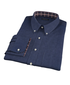 Navy Heavy Oxford Men's Dress Shirt