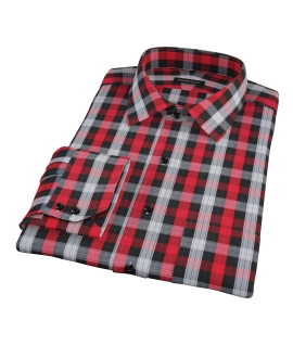 Crosby Red Plaid Fitted Shirt